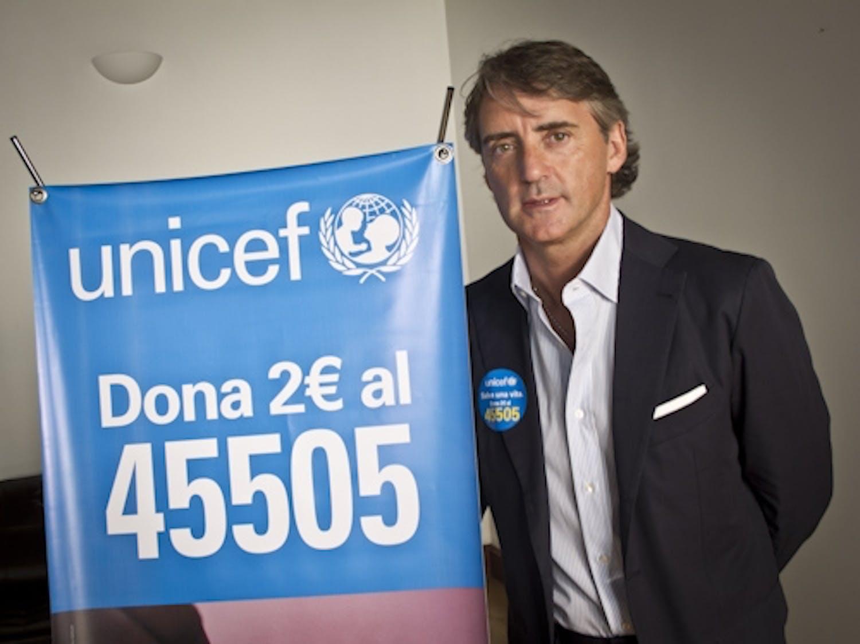 Roberto Mancini sostiene la campagna UNICEF Vogliamo Zero