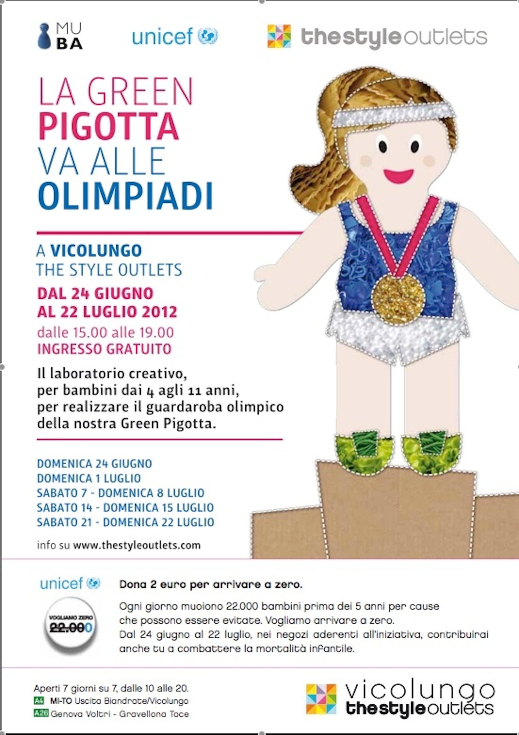 La Green Pigotta va alle Olimpiadi, un'iniziativa di Vicolungo Style Outletsiativa