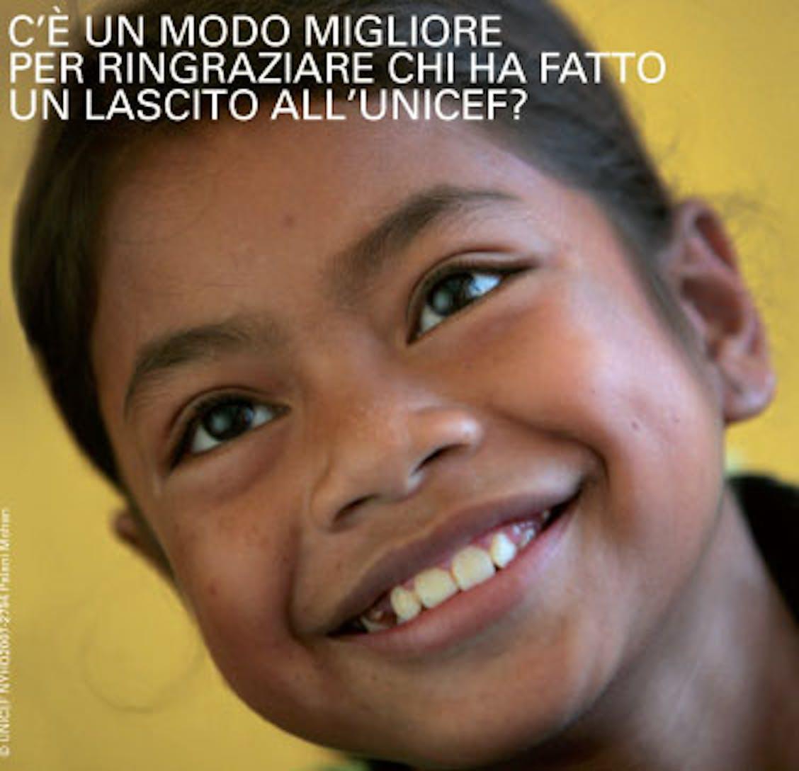 In occasione della Giornata Internazionale dei lasciti, il 13 settembre, l'UNICEF vuole ricordare tutti coloro che hanno voluto fare un lascito testamentario in favore dell'infanzia