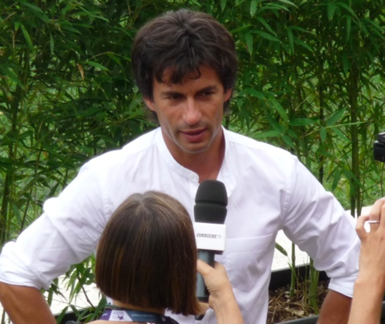 Kledi Kadiu a Venezia, durante la presentazione del Film