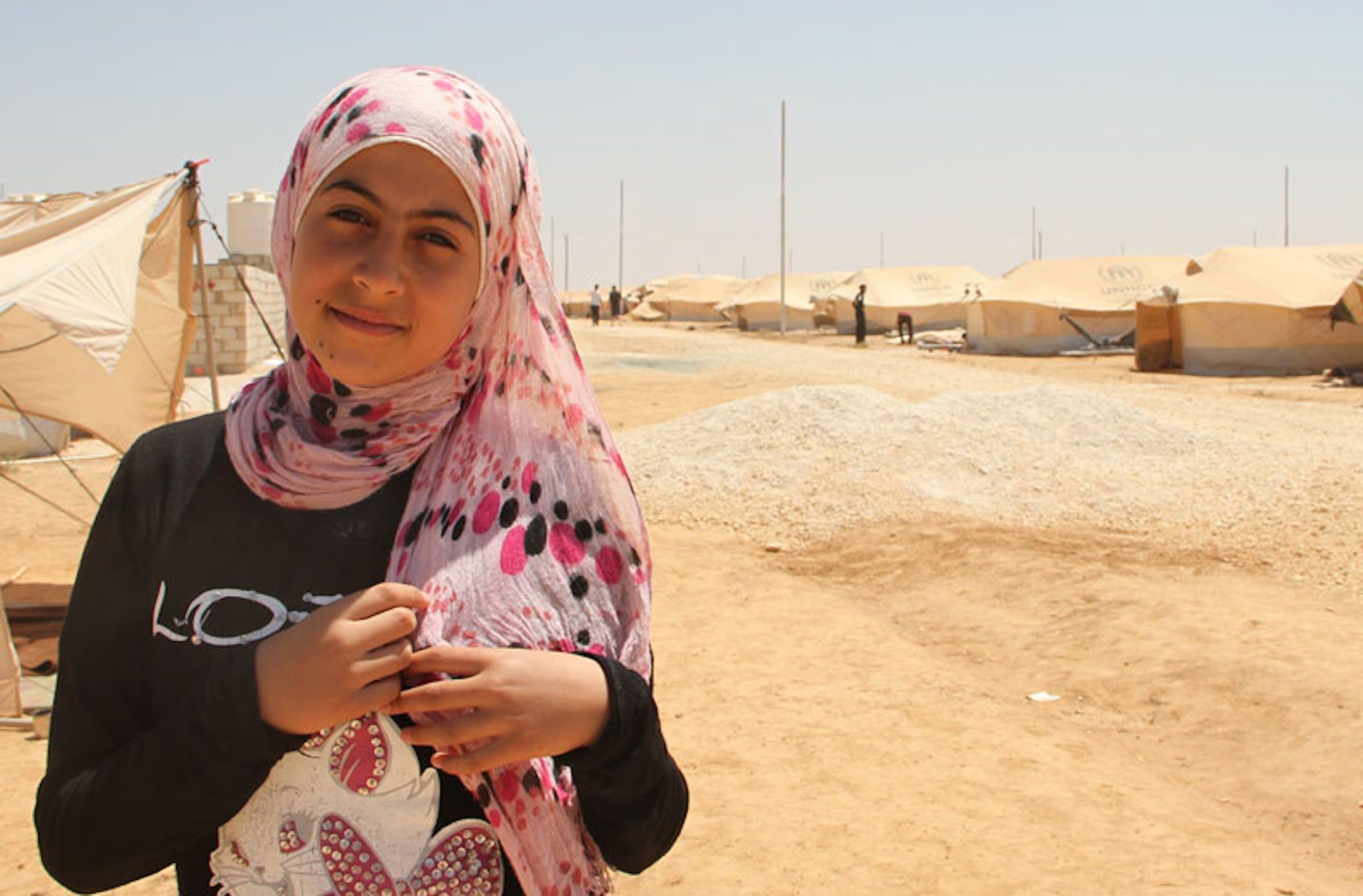 Reem, la bambina protagonista di questa storia - ©UNICEF Giordania/2012/Sharpe