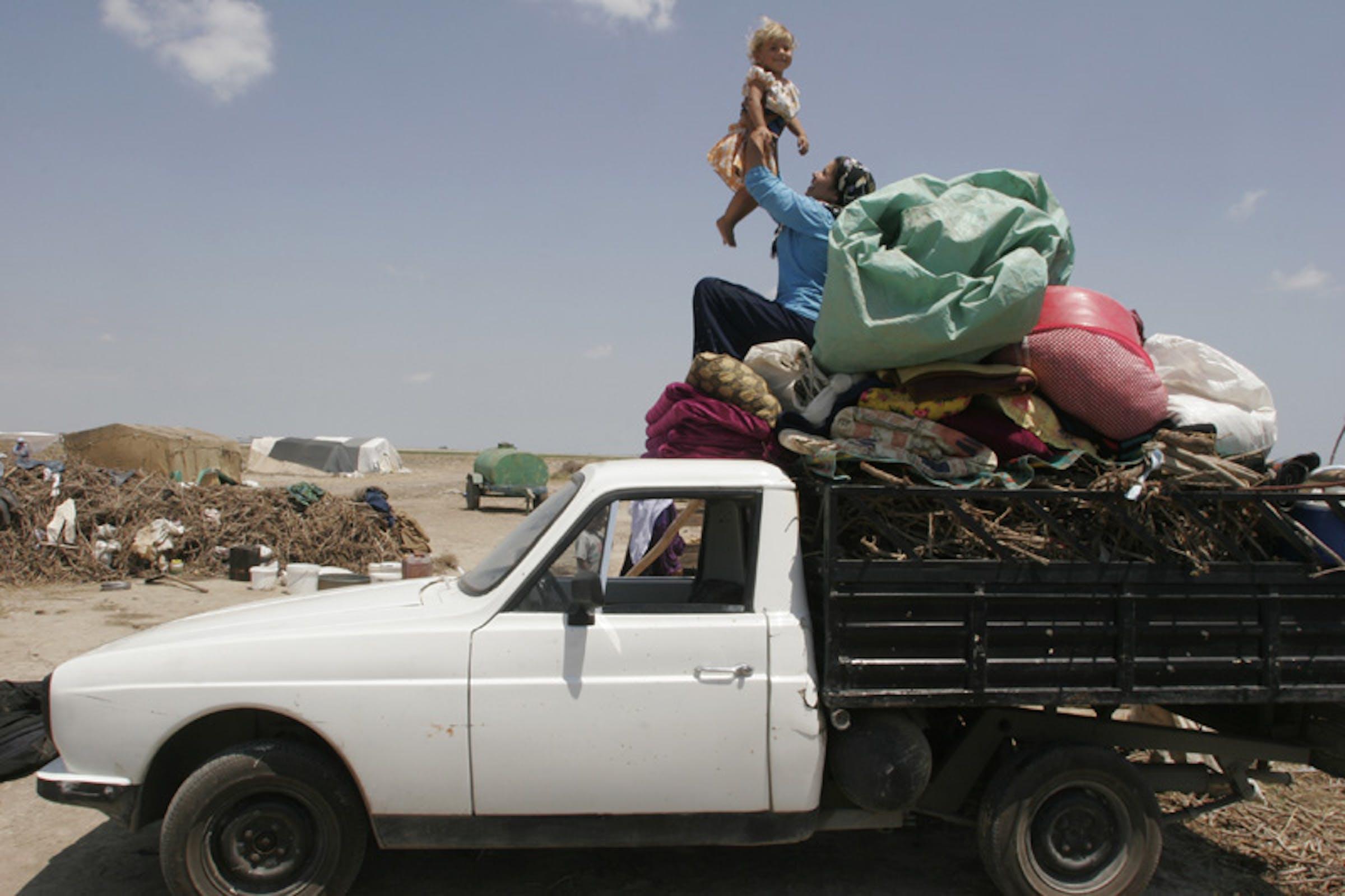 Una famiglia di migranti in Turchia - ©UNICEF/NYHQ2005-1207/LeMoyne