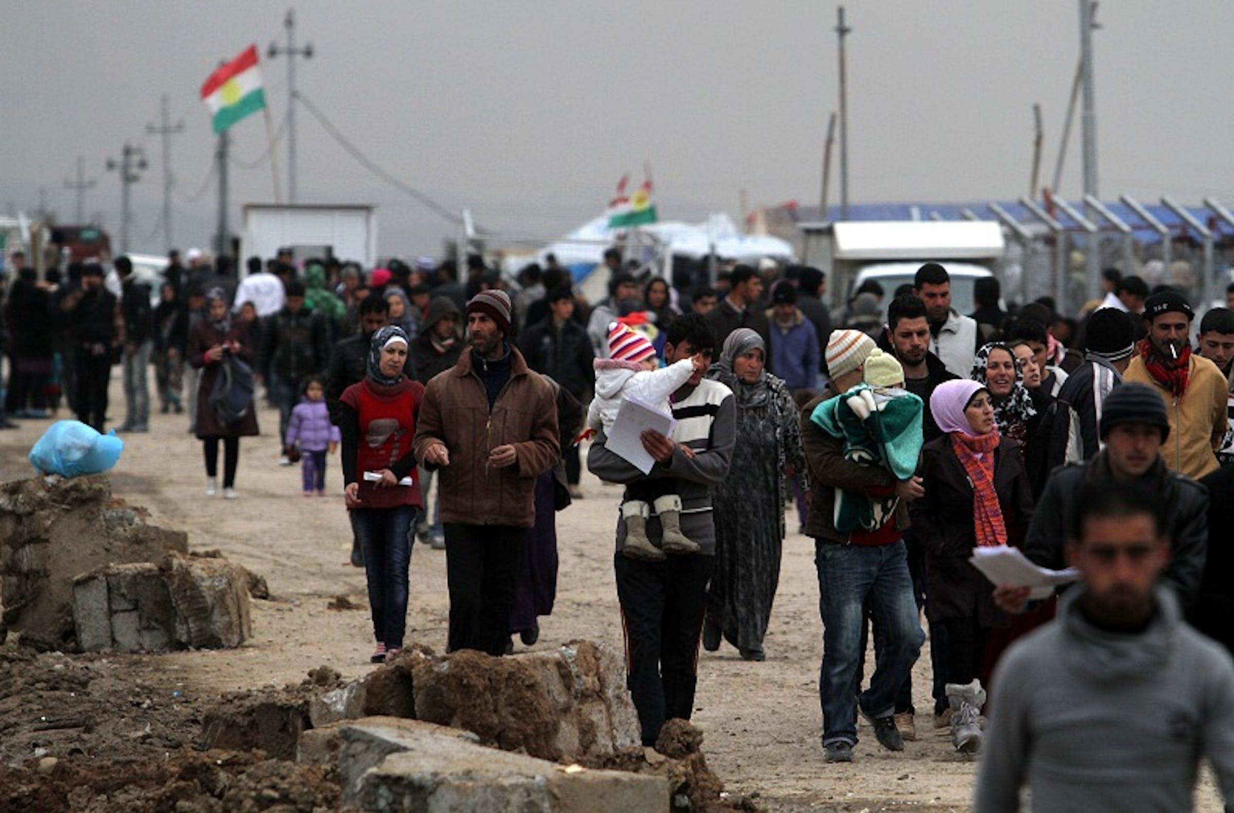 Il campo profughi di Domiz, in Iraq, dove vivono in condizioni di estremo sovraffollamento circa 40.000 rifugiati siriani - ©UNICEF Iraq/2013