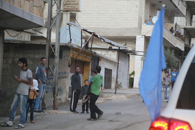 Un momento dell'arrivo a Madaya (Siria) del convoglio umanitario delle Nazioni Unite - ©UNICEF/UN033472/Al-Saleh/WFP