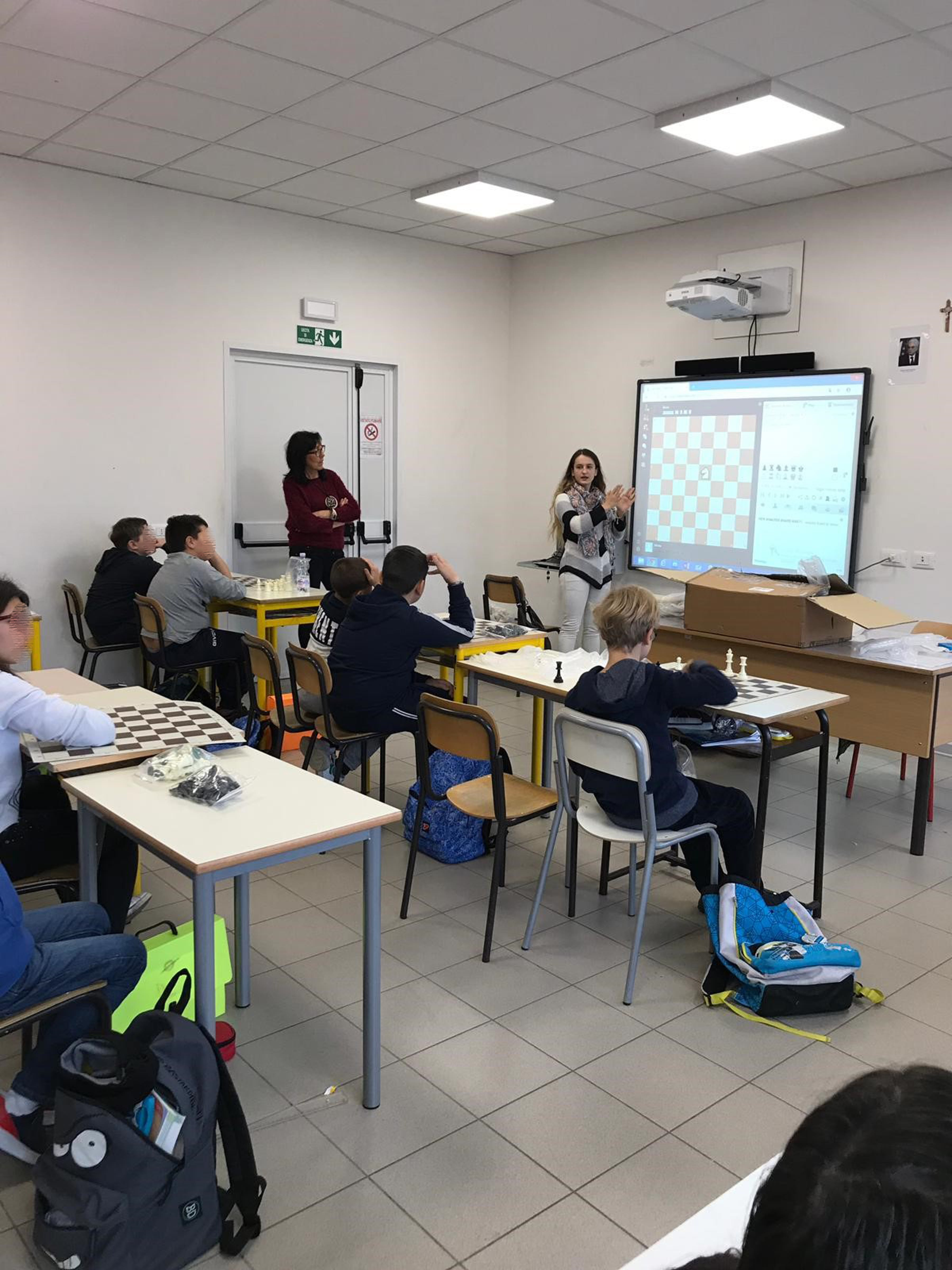 Daniela Movileanu a Norcia per Chess for Children