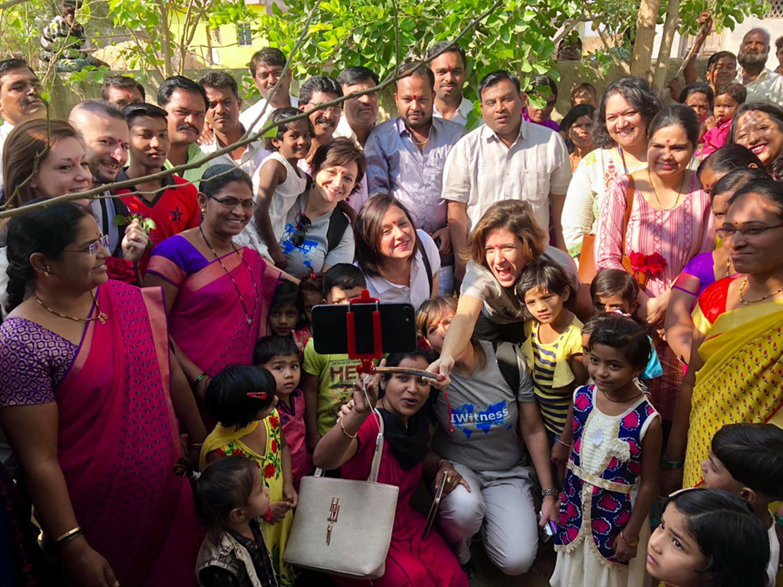 Un'immagine della missione dei dipendenti di IKEA Italia in India con l'UNICEF - ©UNICEF Italia/2018/A.Semeraro