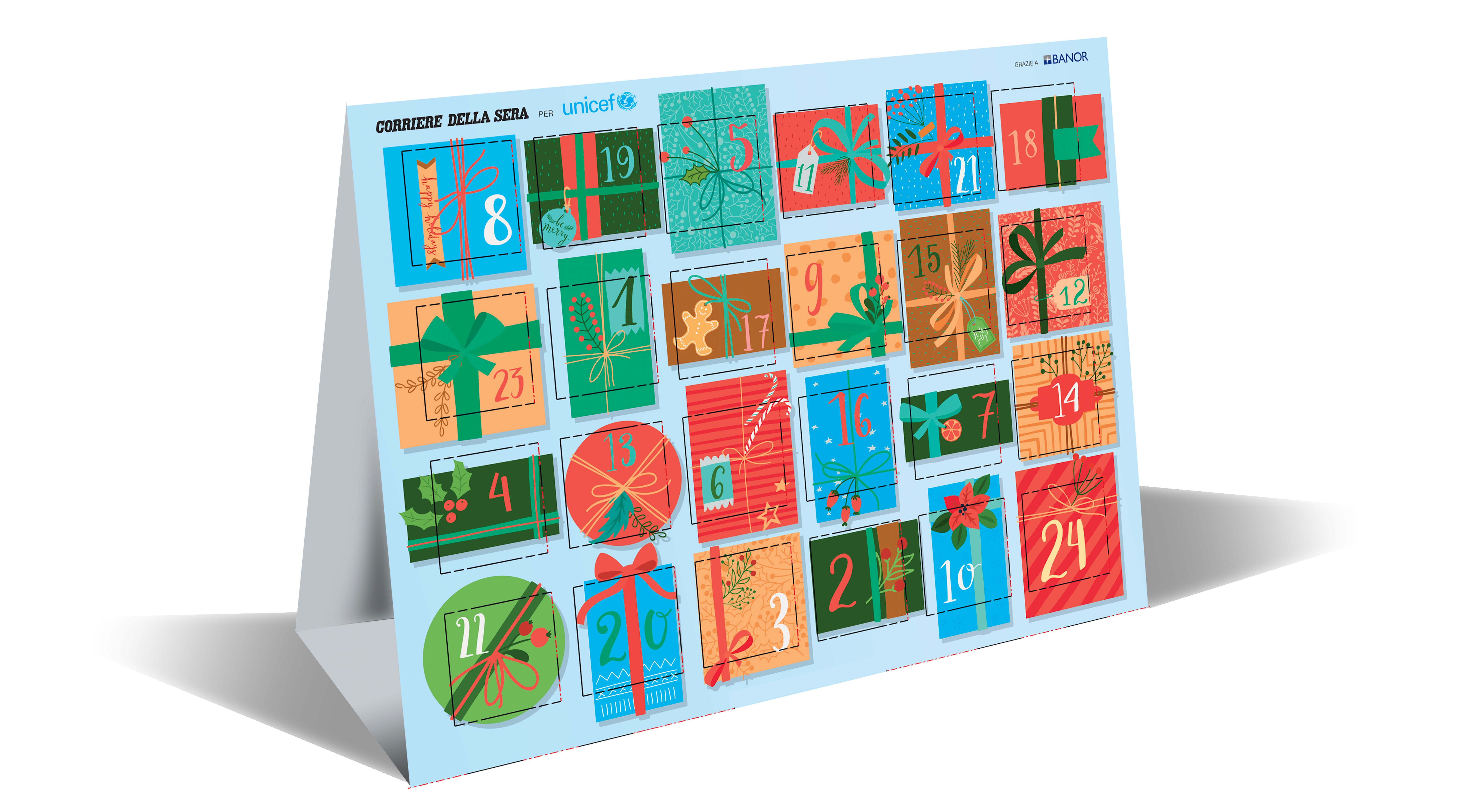 Calendario dell'Avvento - Corriere della Sera per UNICEF