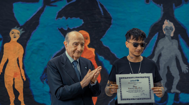 Il presidente dell'UNICEF Italia Francesco Samengo nomina Ultimo Goodwill Ambassador dell'UNICEF Italia