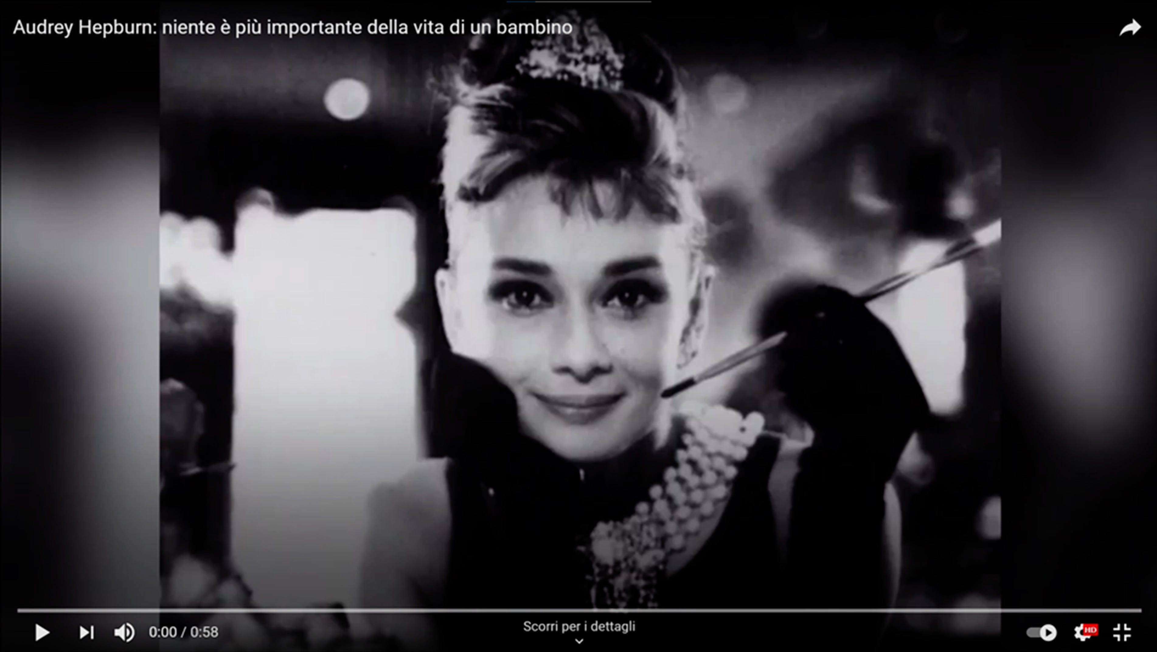 Audrey Hepburn: niente è più importante della vita di un bambino