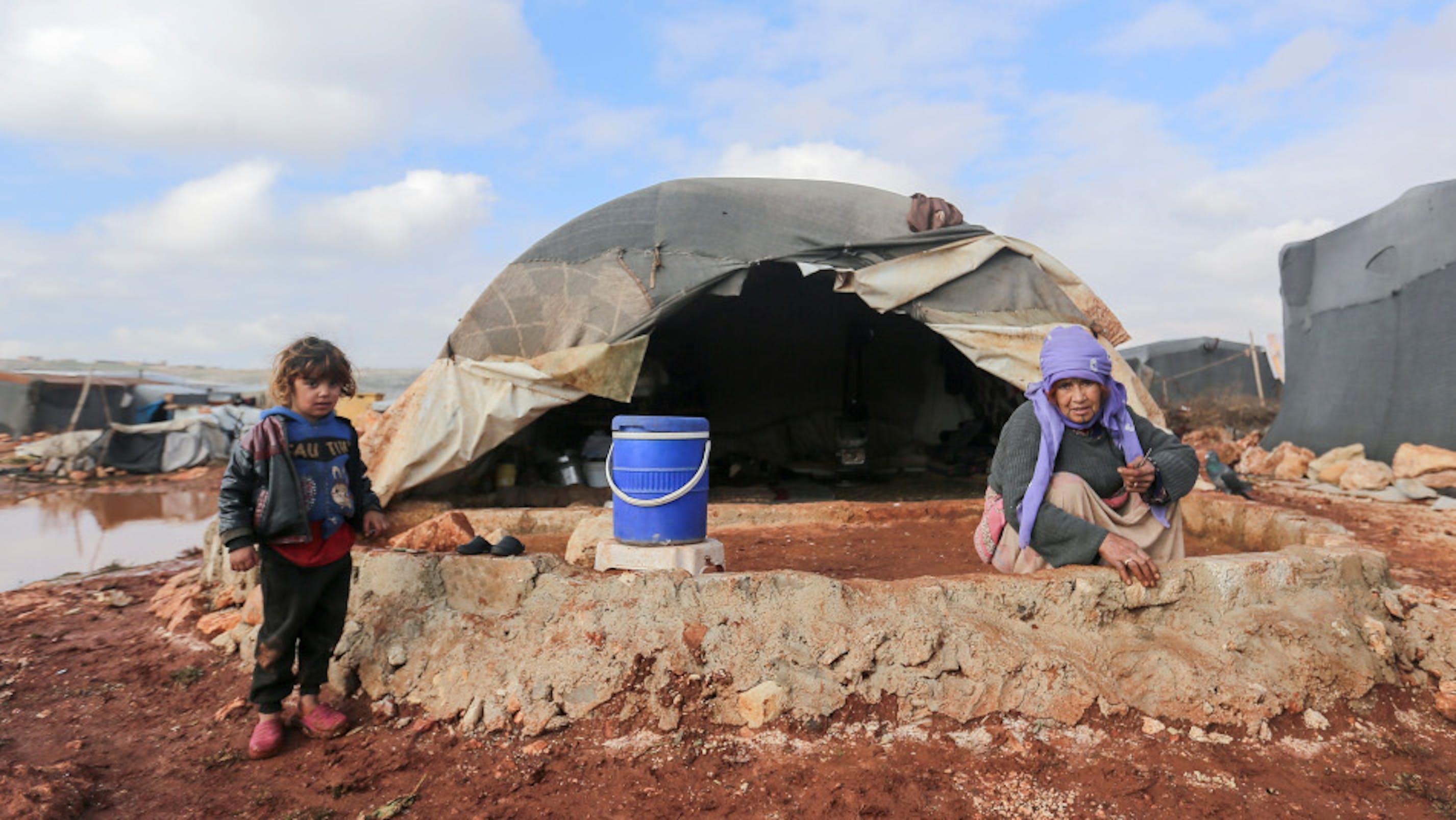 famiglia sirana, campo Idlib Kafr