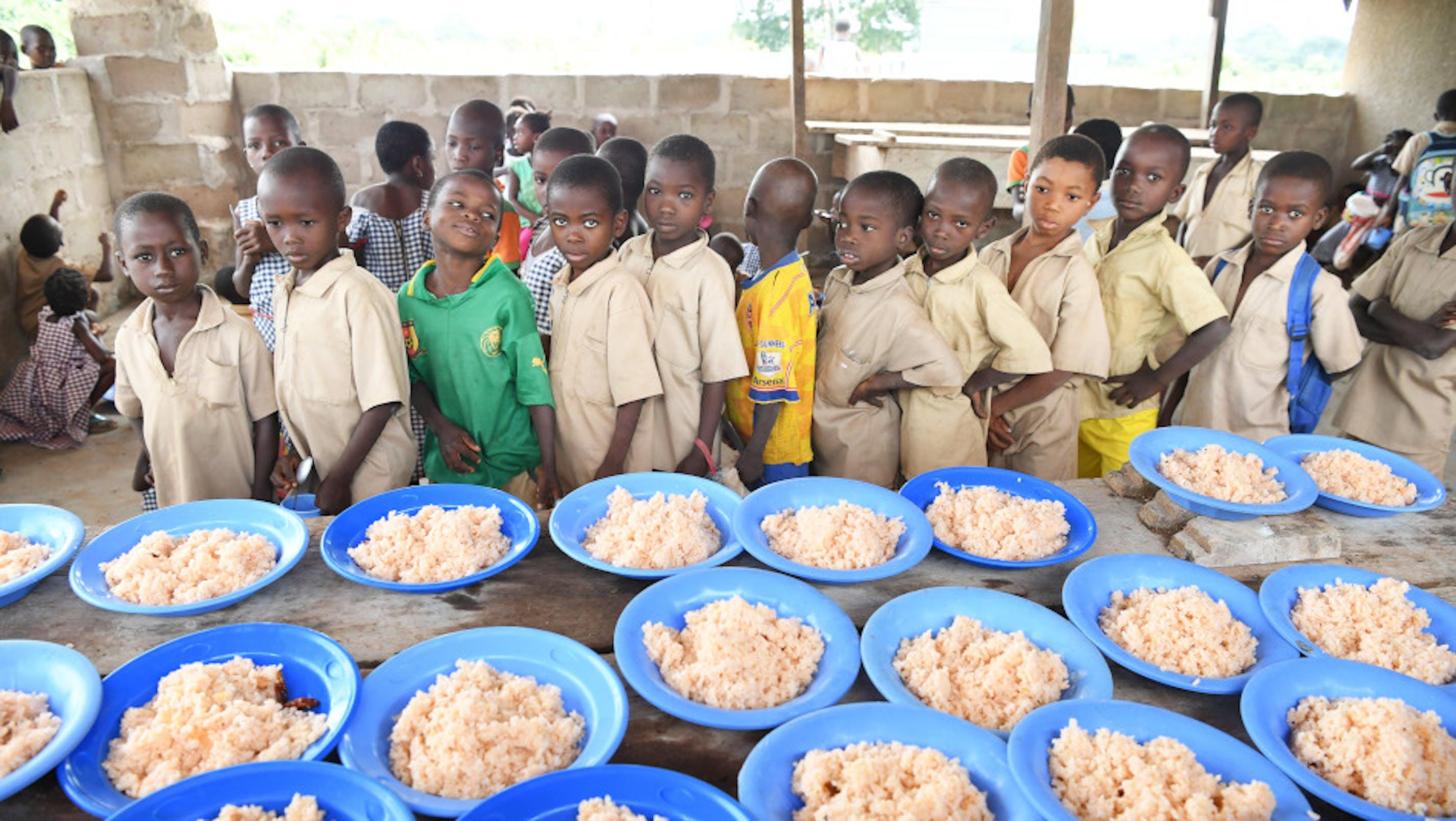 pasti scolastici, bambini, Costa d'Avorio