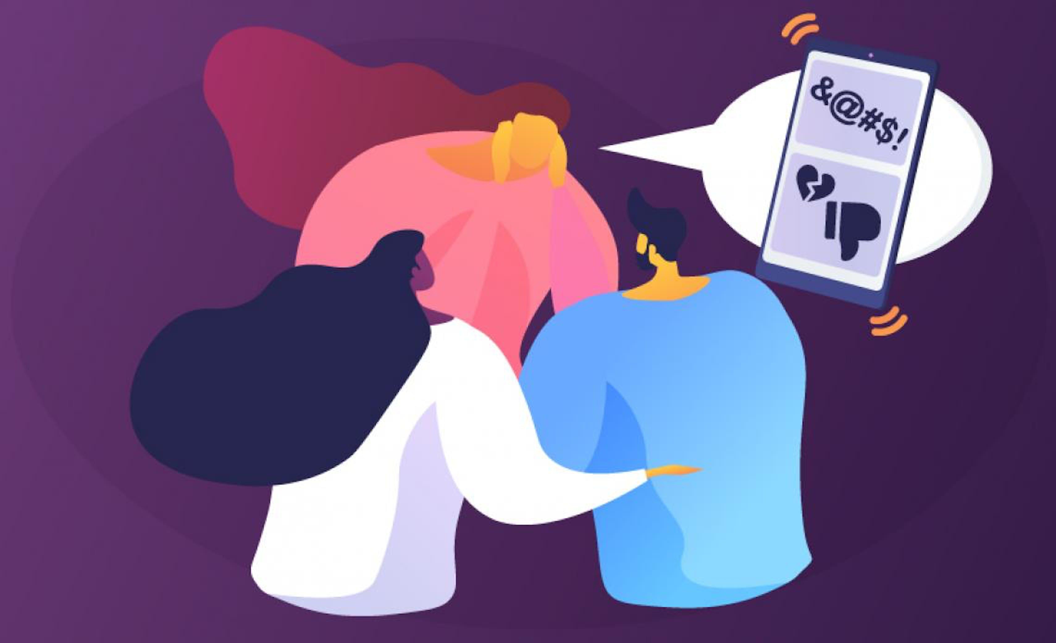 Illustrazione Cyberbullismo, parlarne con i genitori