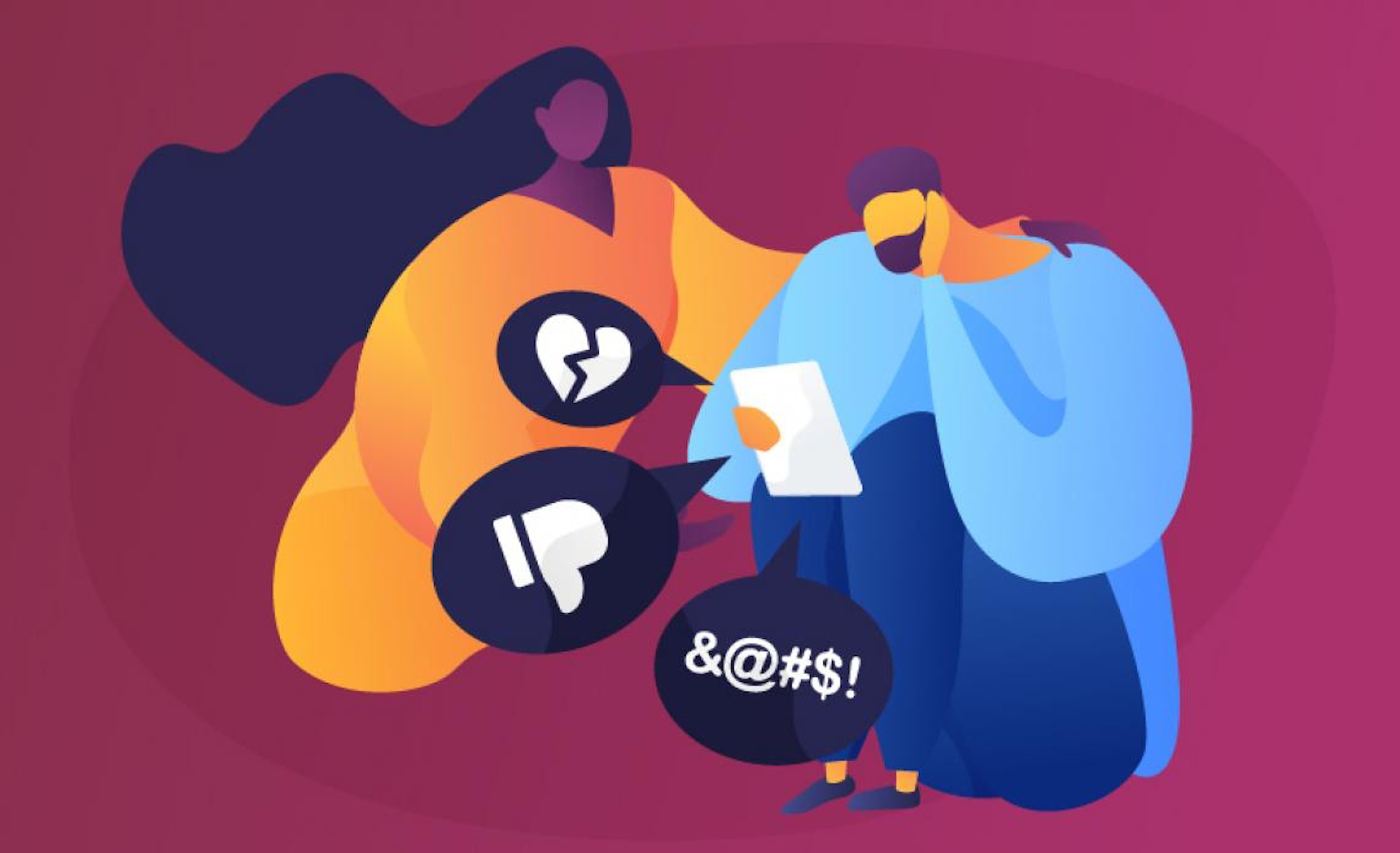 Illustrazione Cyberbullismo, aiutare un amico