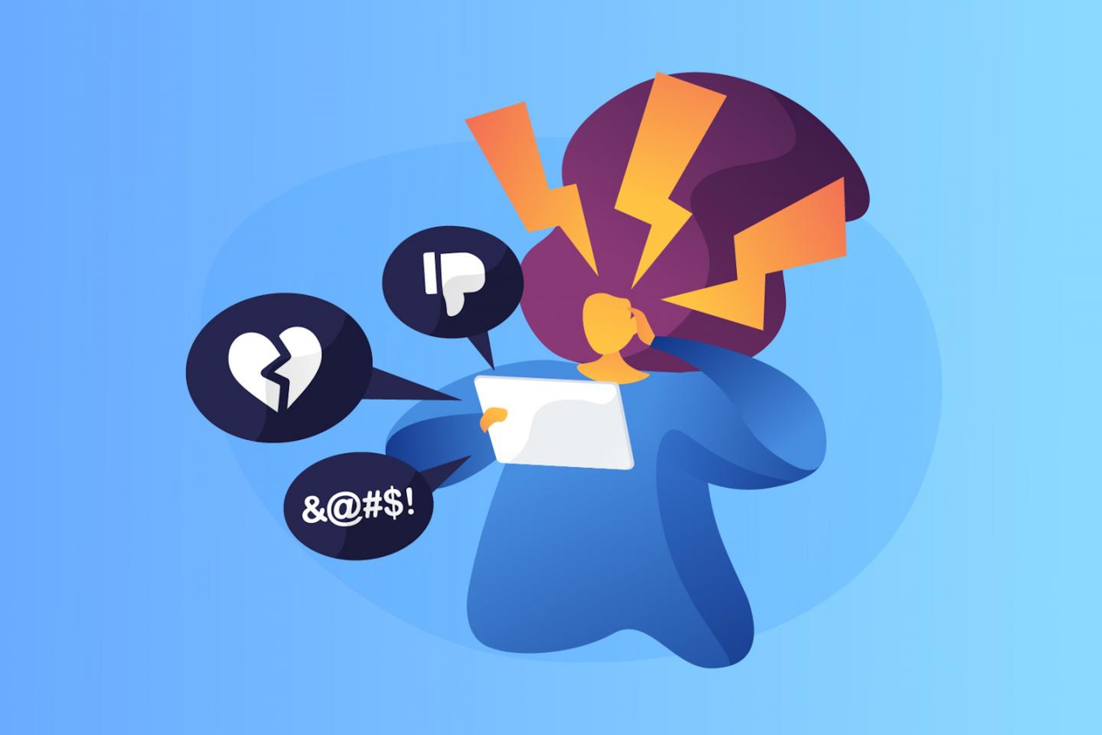 Illustrazione Cyberbullismo, 10 domande utili