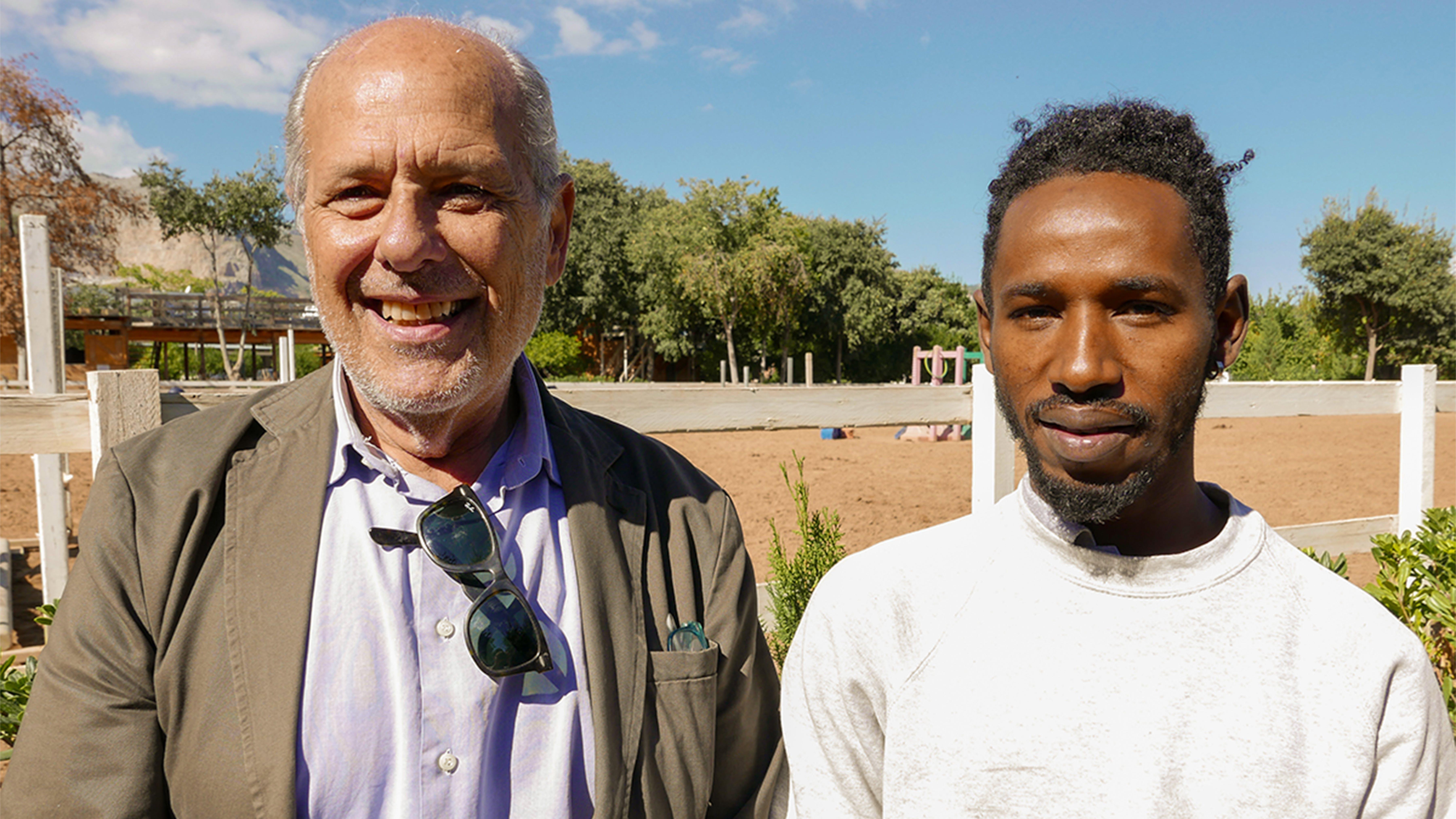 Modou e Francesco, insieme nel progetto Fianco a Fianco