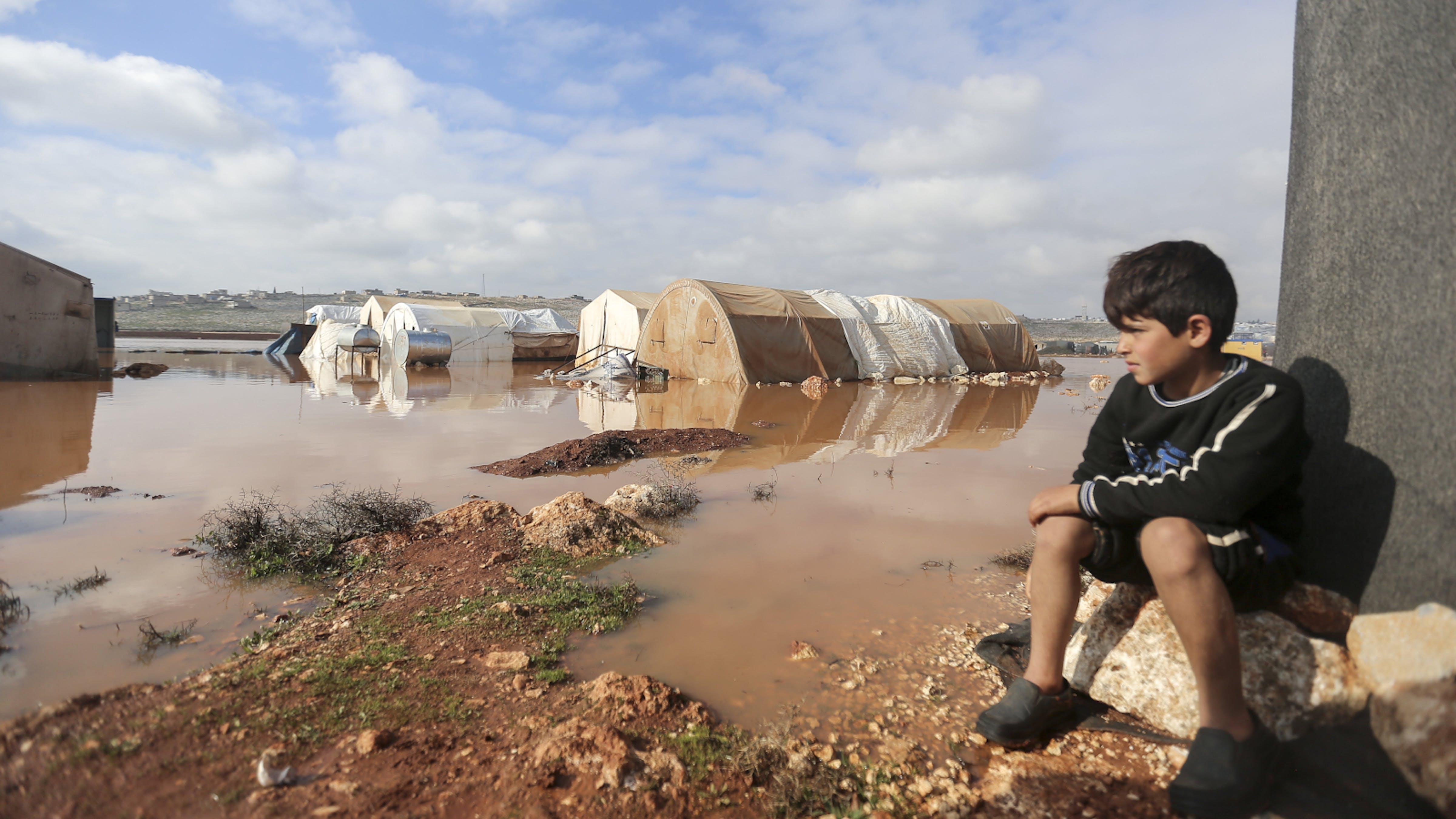 bambini e guerre,siria,alluvione