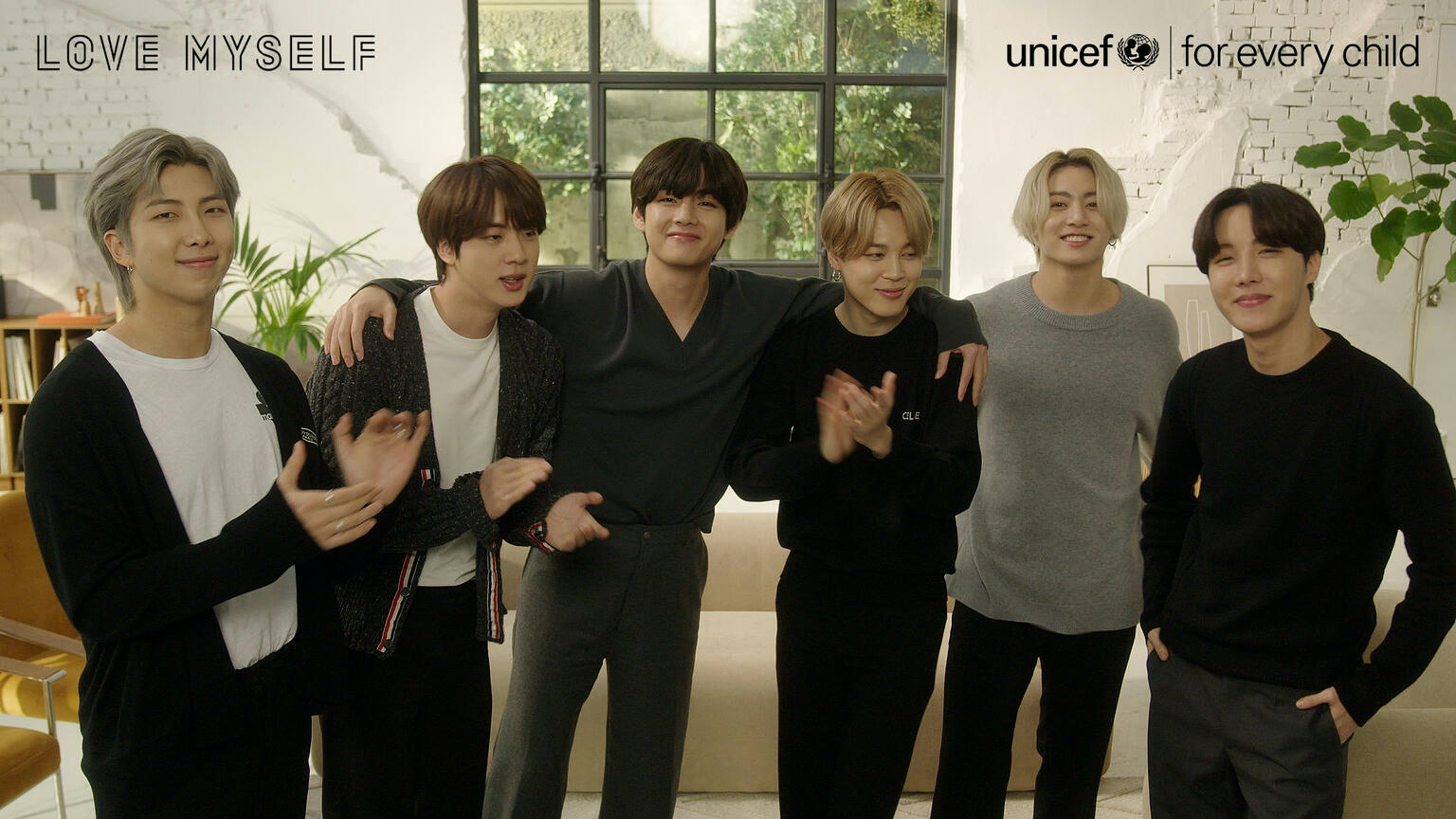 BTS con l'UNICEF contro le violenze e per promuovere l'autostima e il benessere dei ragazzi.