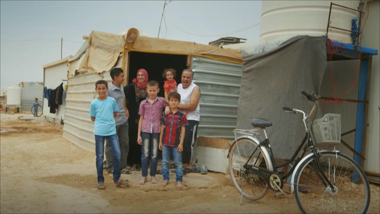 La famiglia di Ahmad, rimasta a Za'atari