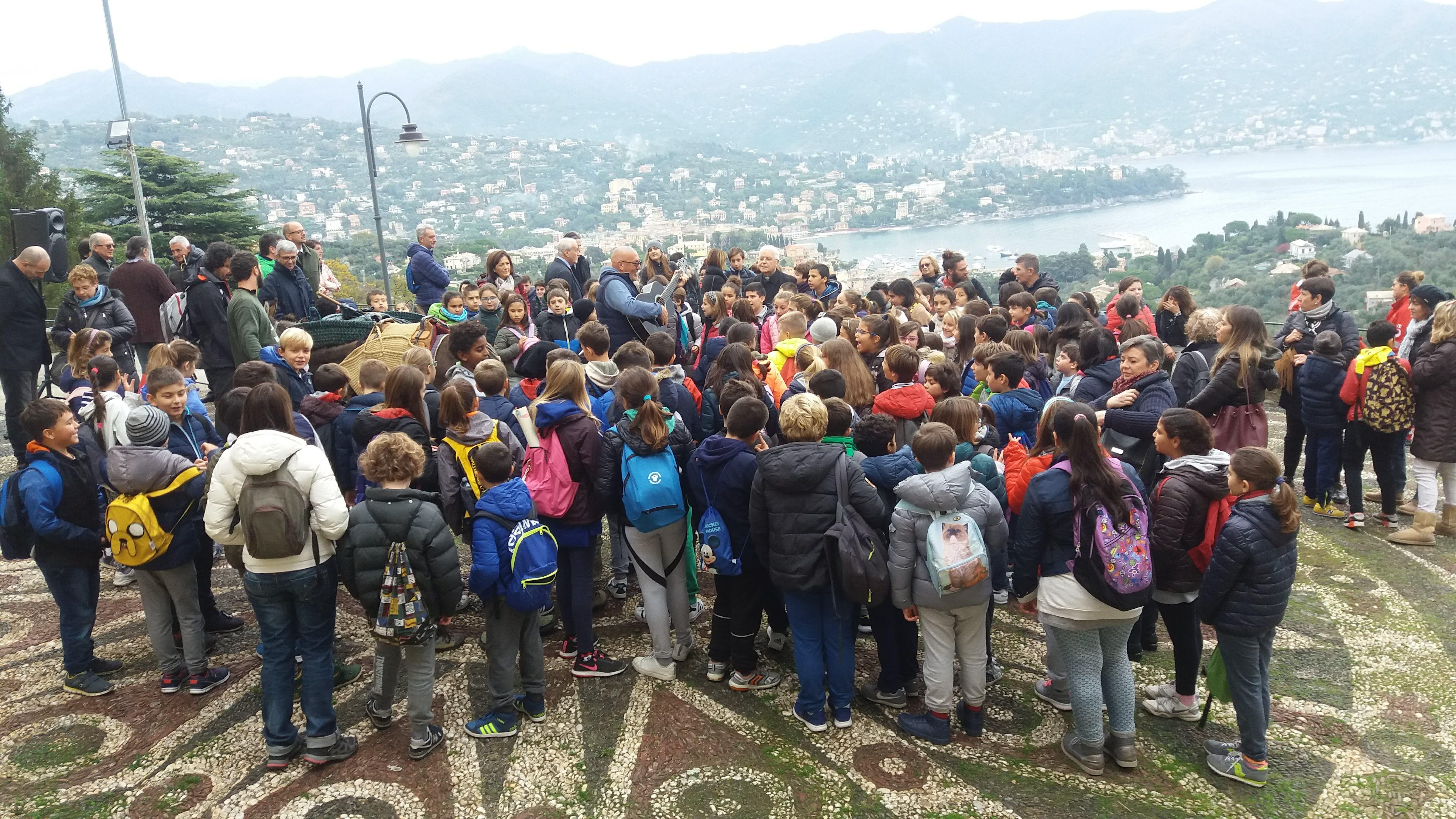 Momenti della Giornata dell'intitolazione del Monte di Portofino (Foto scattata prima delle restrizioni dovute alla pandemia da COVID-19)