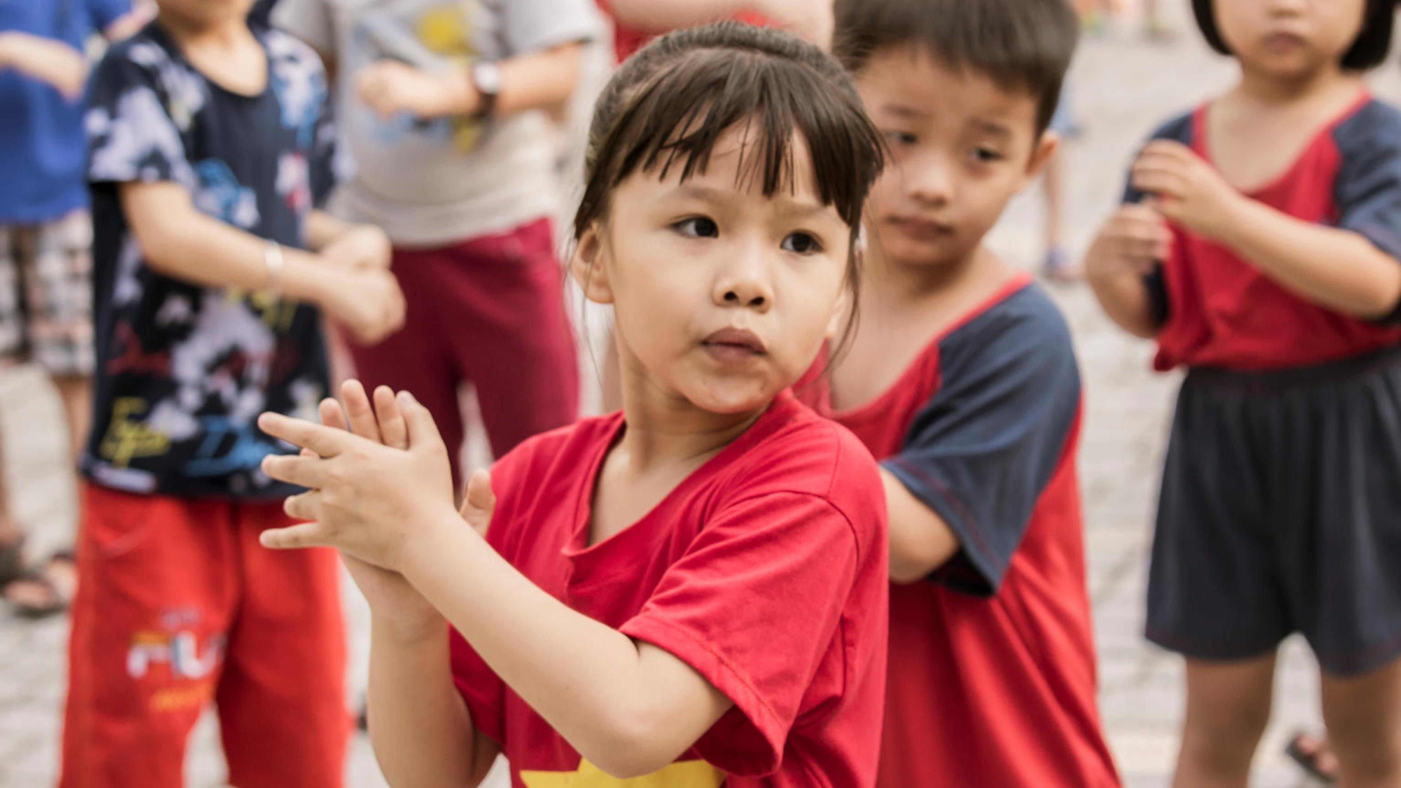 Vietnam, una bambina nel
