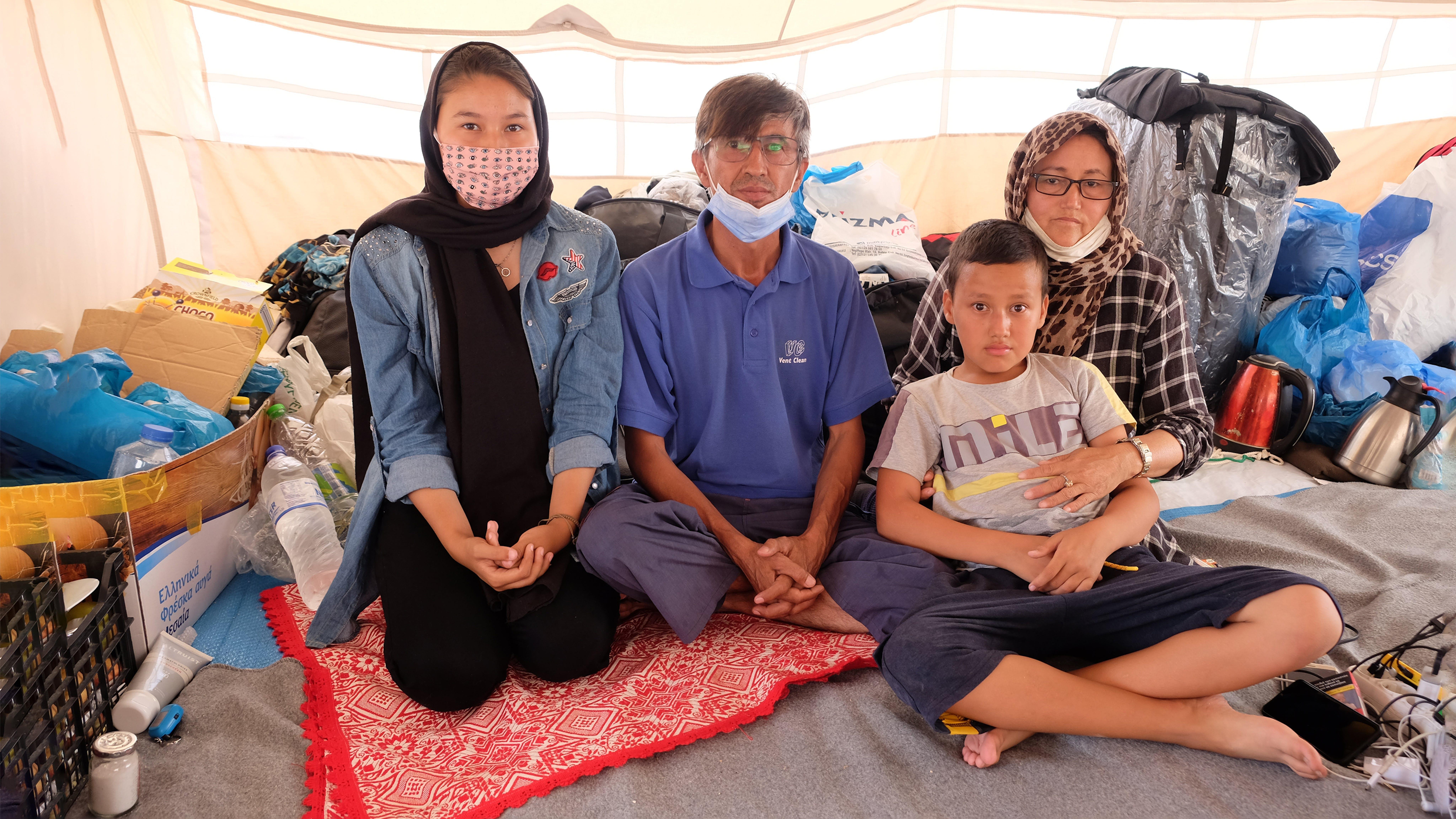 Grecia - Fatima e la sua famiglia rifugiata nell'isola di Lesvos