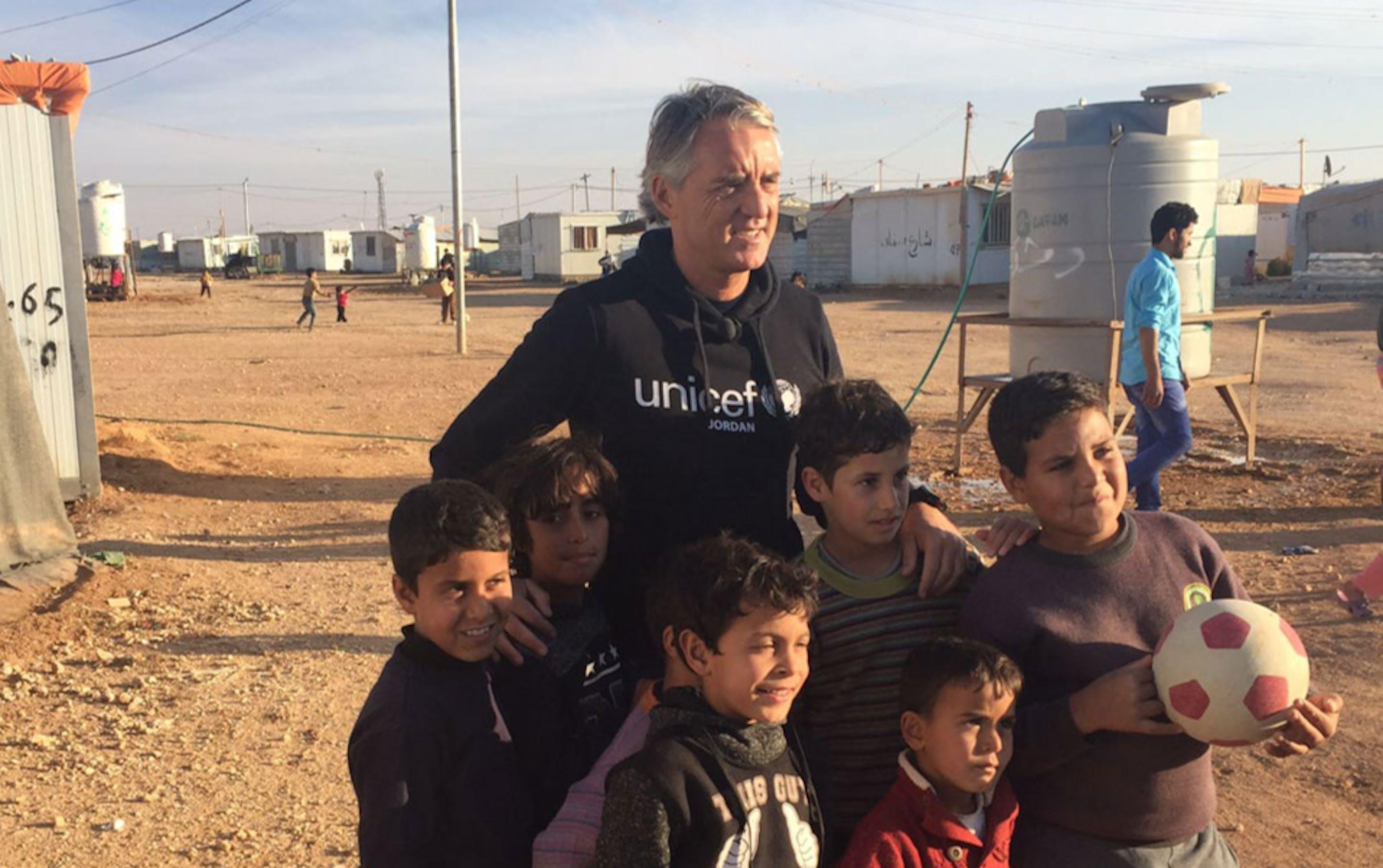 Mancini missione Zaatari, Giordania