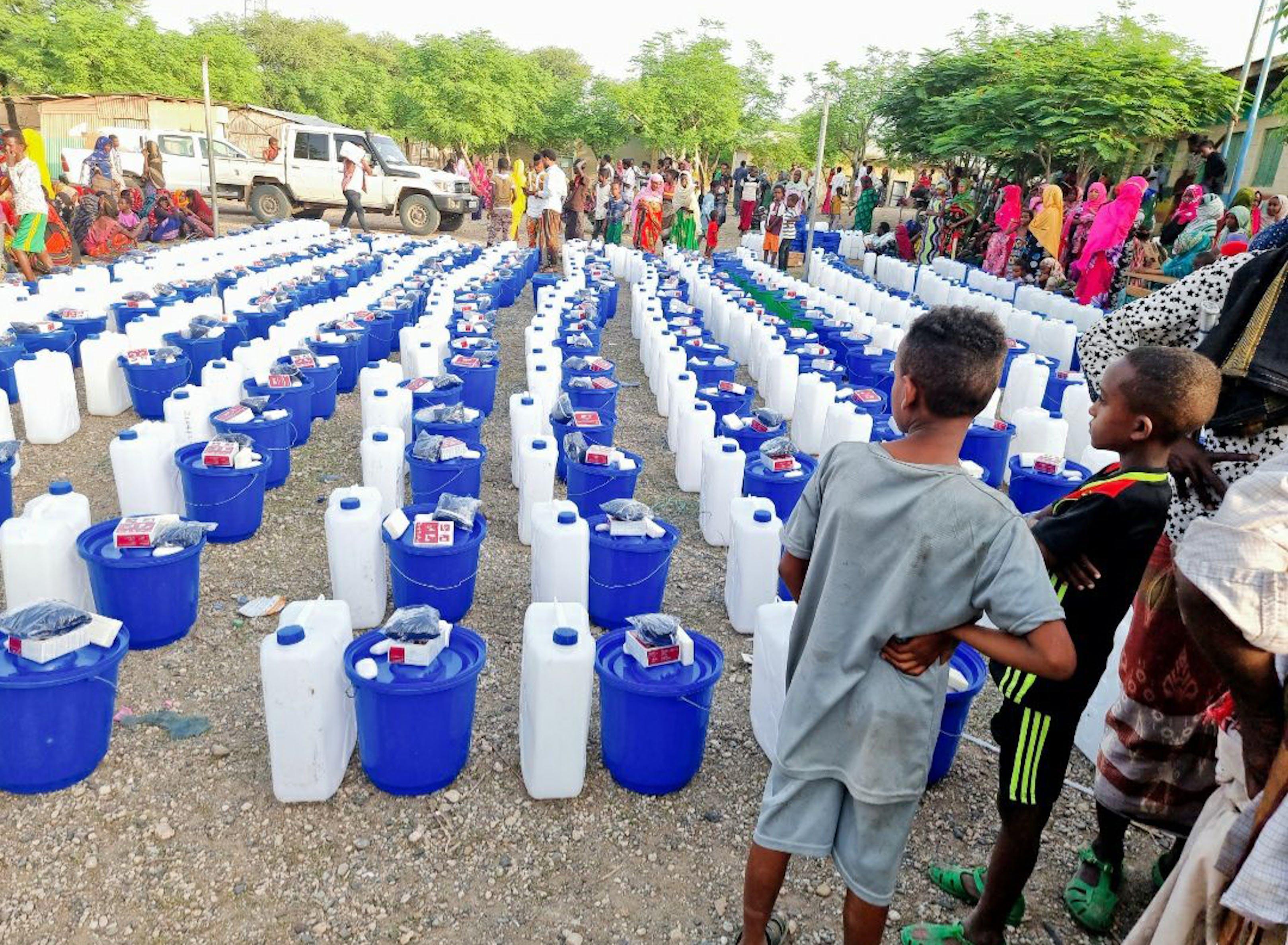 Distribuzione di aiuti nell'Etiopia settentrionale nell'agosto 2021