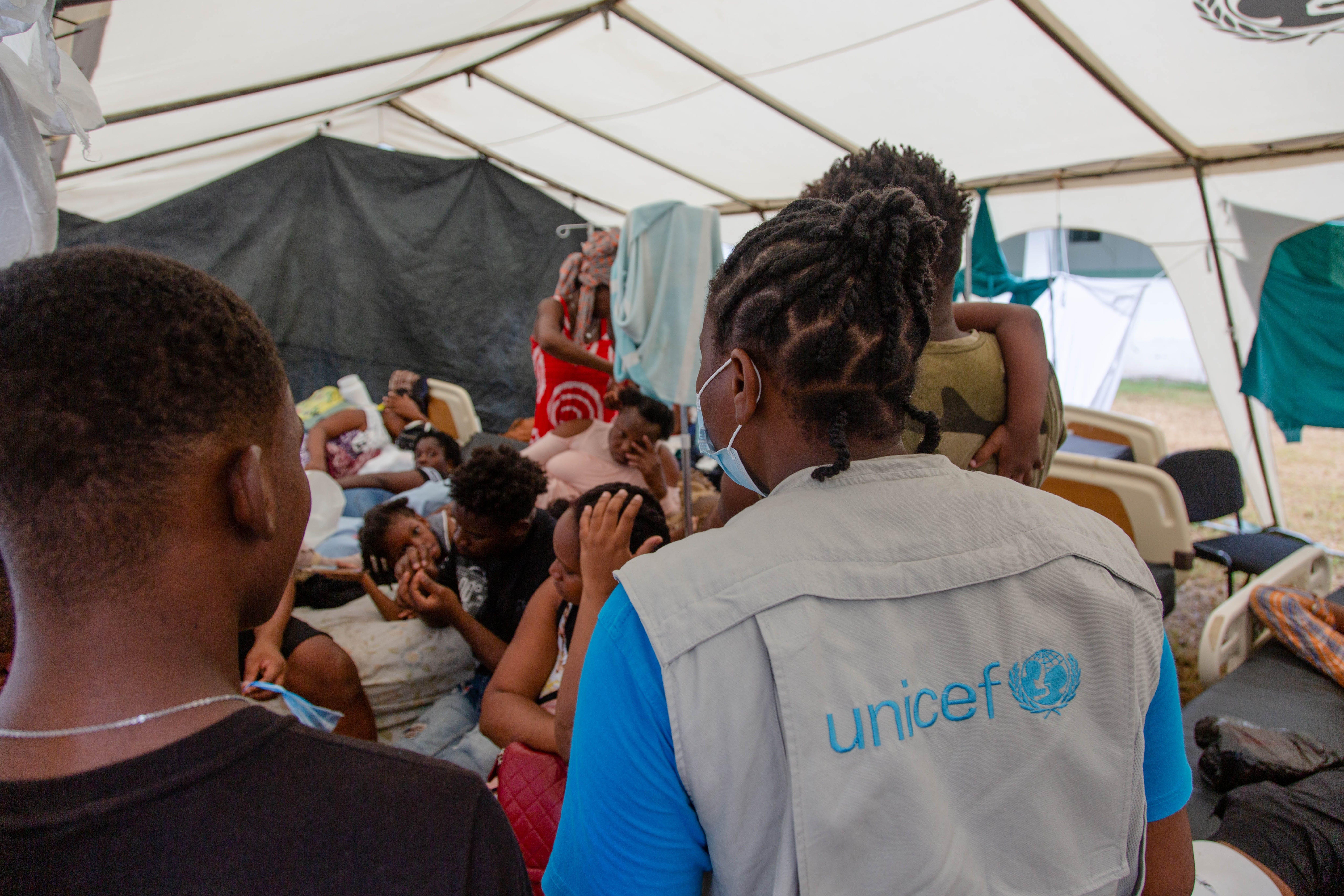 Haiti. Un ospedale da campo allestito dall'UNICEF a Les Cayes