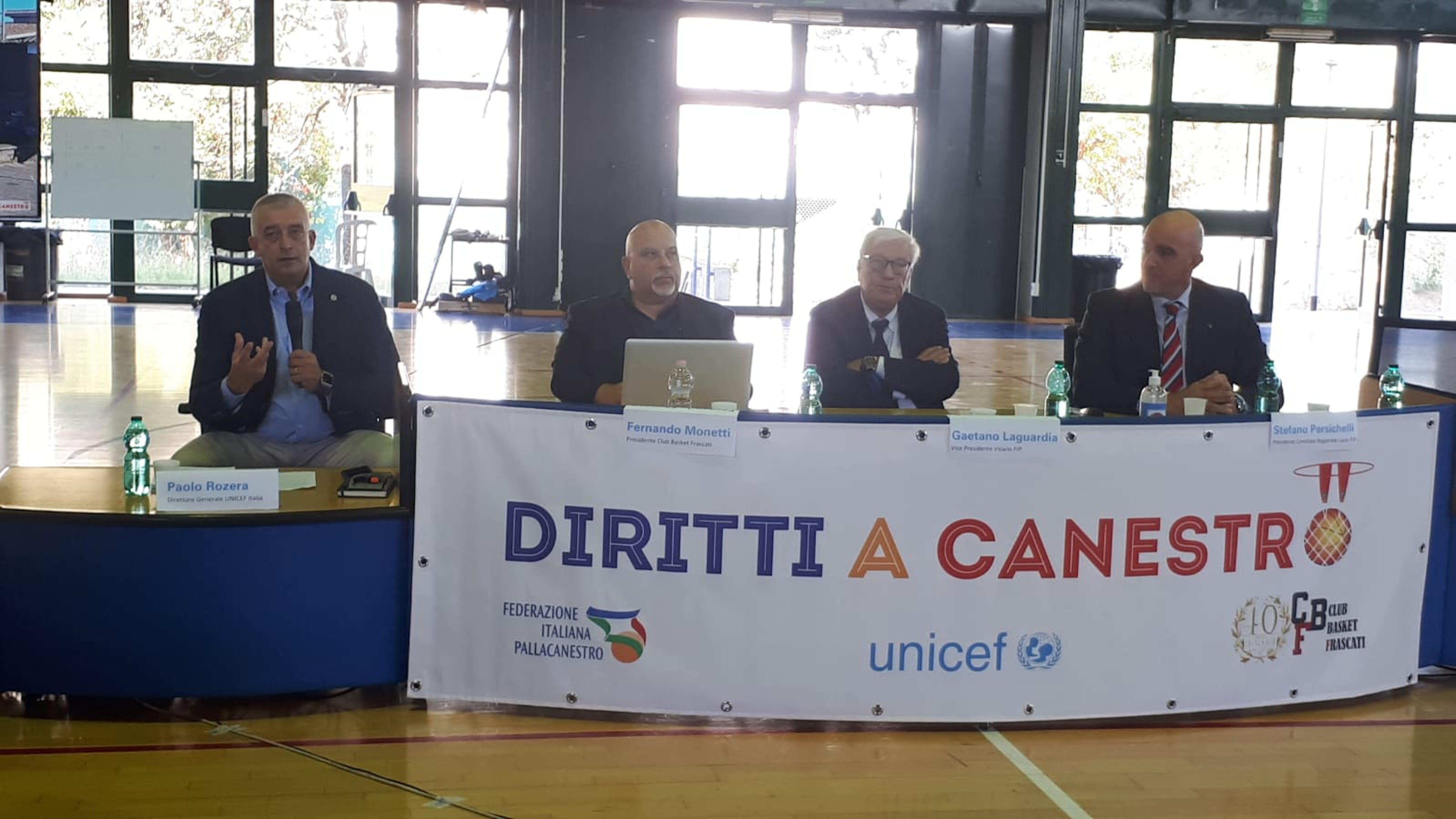 Frascati,  Paolo Rosera, direttore generale UNICEF, interviene durante la conferenza stampa