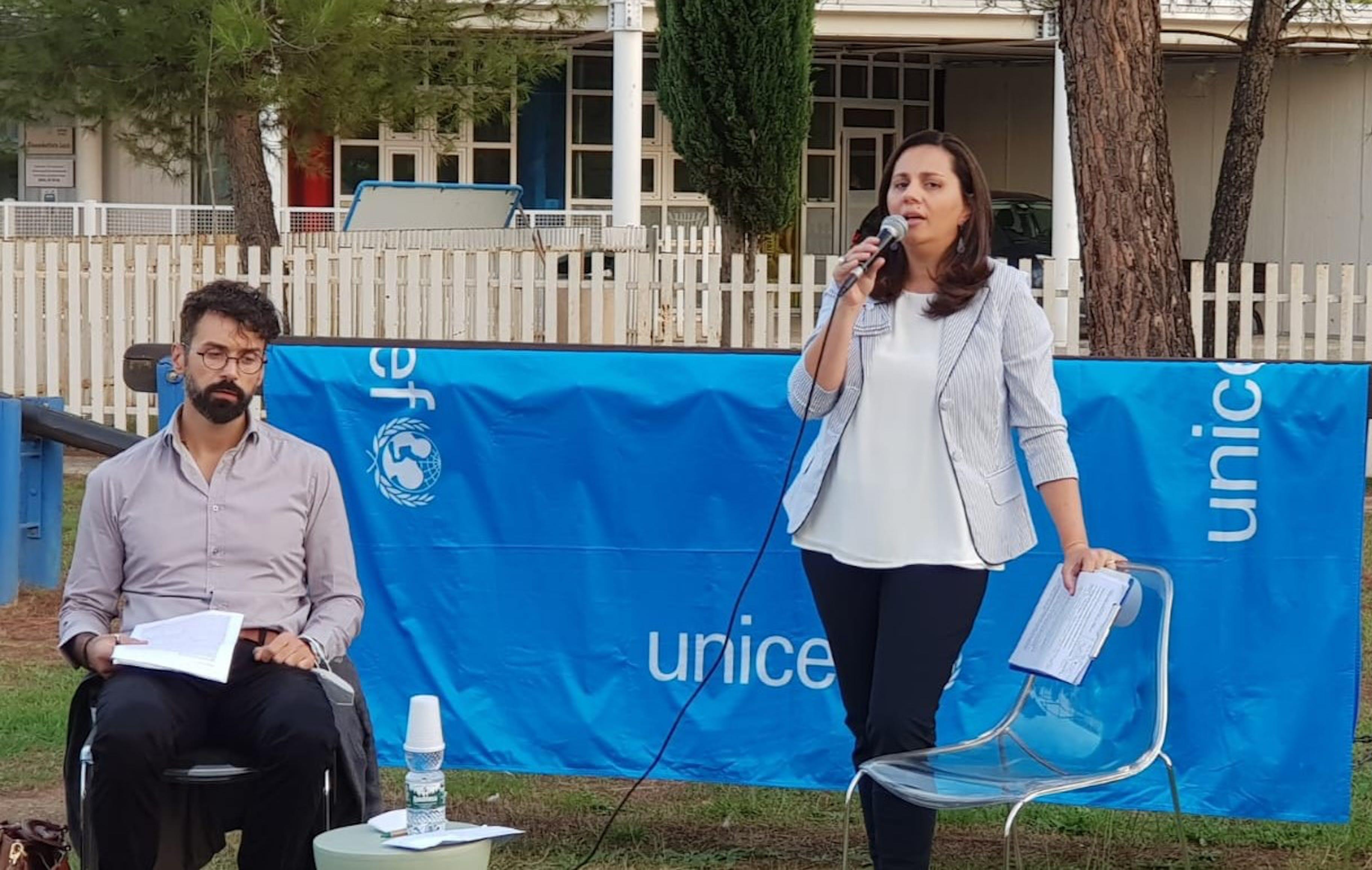 Cosenza, i relatori durante l'iniziativa UNICEF