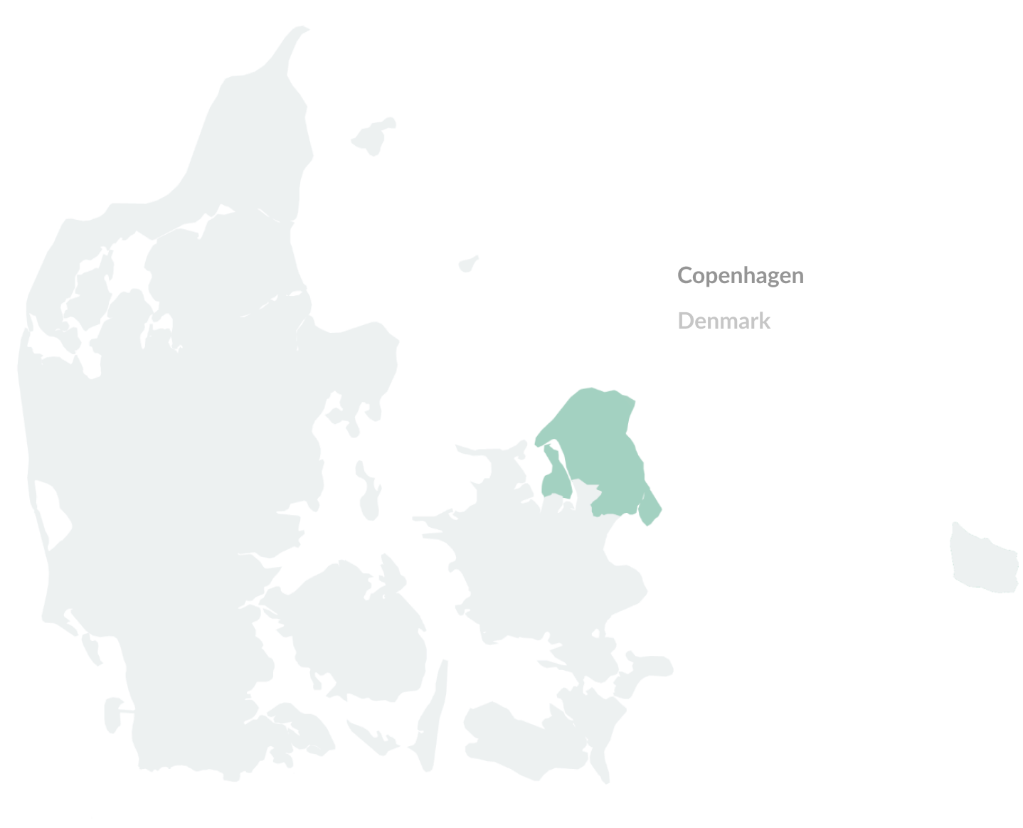 Map of Copenhague, Denmark