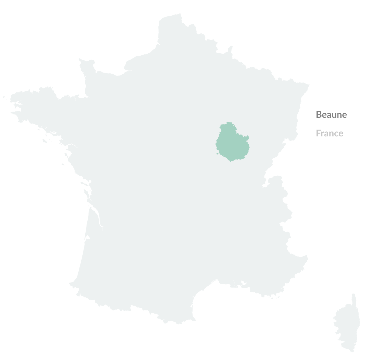Map of Beaune, France