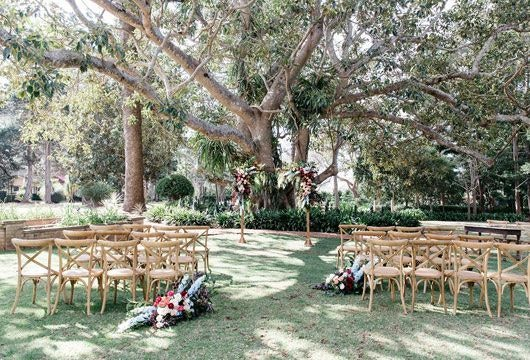 Garden wedding venue at Gabbinbar Homestead