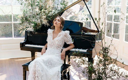 Bride Leaning on the Piano