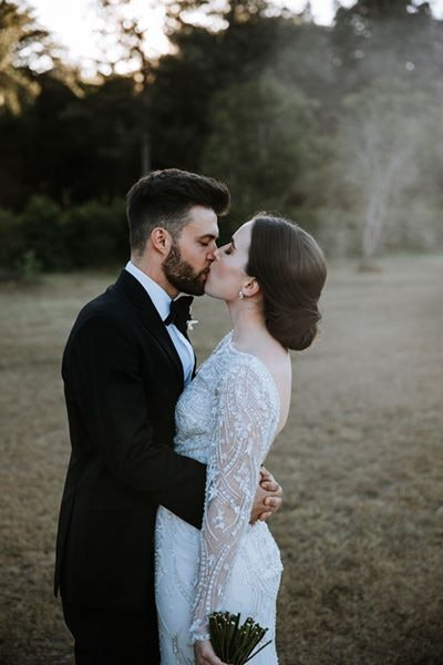 Sweet couple kissing