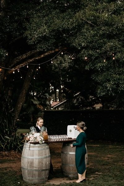 Unique wedding bar idea