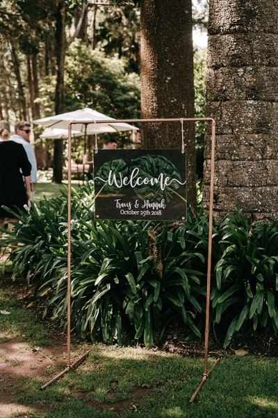 Wedding welcome sign artwork