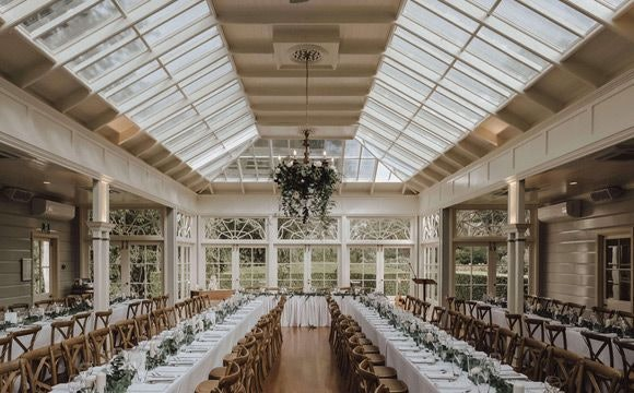 The Conservatory as Benjamin and Phillipa's  wedding reception