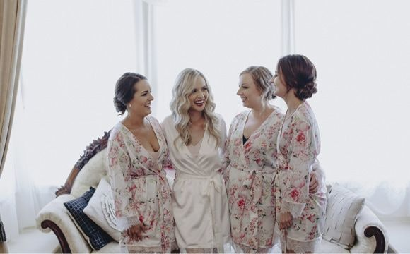 Elspeth and her bridesmaids