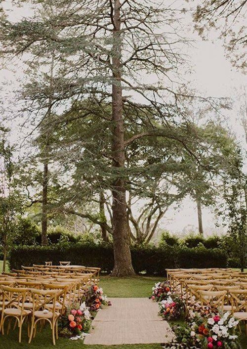 Classic Set up Of Chairs for A Wedding Ceremony
