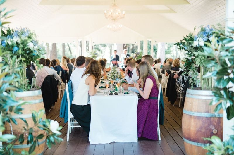 Outdoor wedding reception in The Pavillion