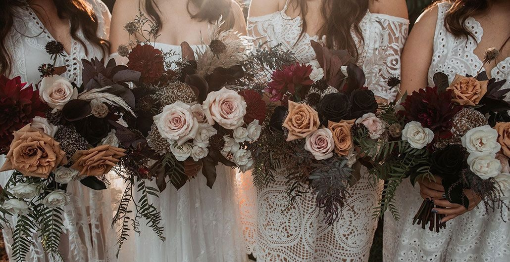 Orange Blossom Bridal Bouquets in Blush and White