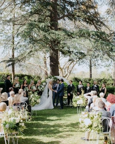 Couple say vows at The Old Gates