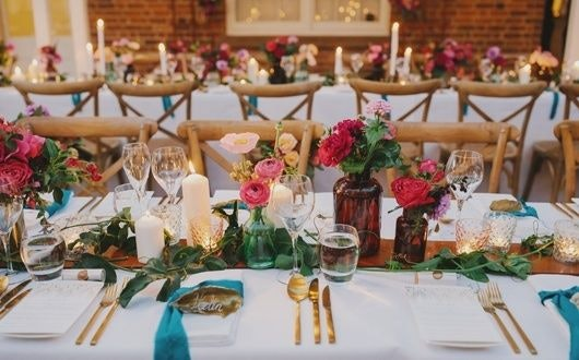 Candle Lights Table Arrangement