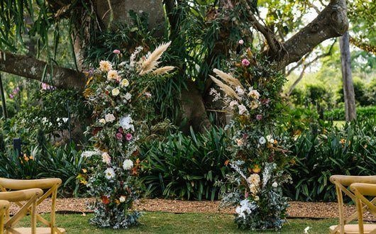 Rustic Outdoor Wedding Ceremony
