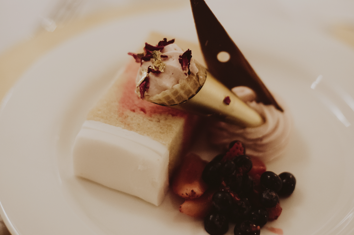 wedding cake served as dessert
