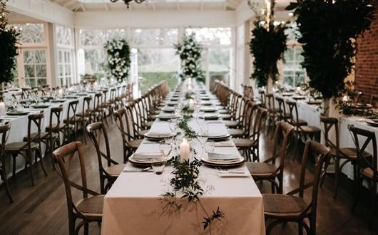 wedding reception with a neutral colour palette
