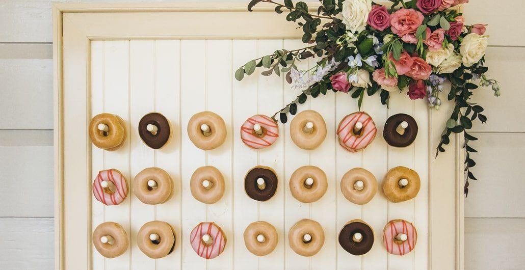 Donut wall idea at wedding