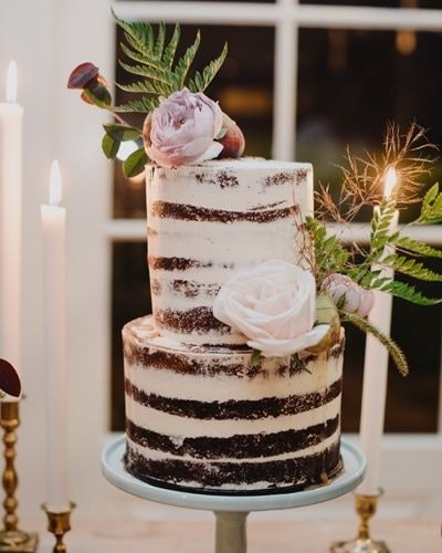 Two Layer Naked Cake