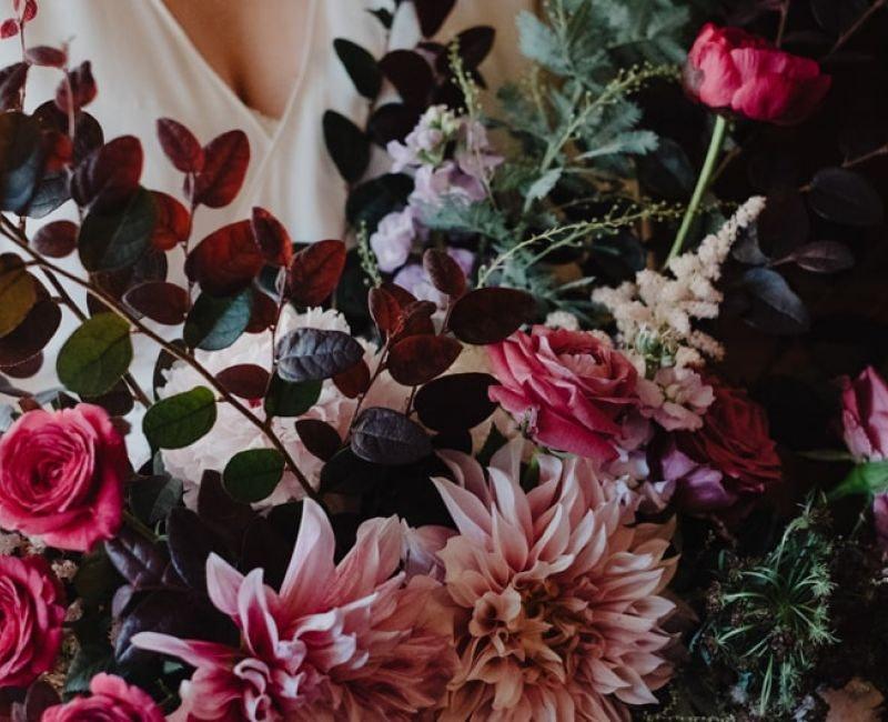 Floral Arrangements In Pink